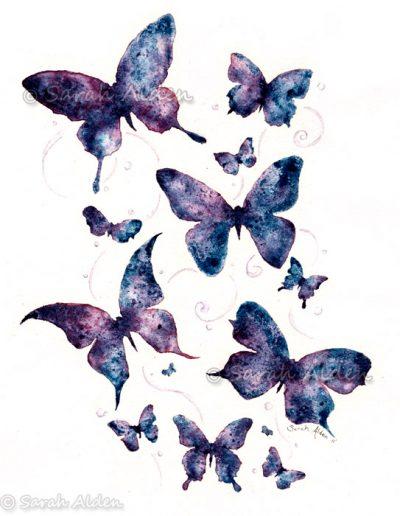Flutterby Butterfly Art Sarah Alden