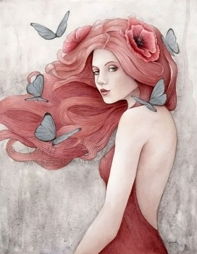 Crimson Painting-Sarah-Alden-Art