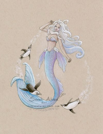 Arctic-Penguin-Mermaid-Art-Mermay-Sarah-Alden