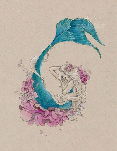 Floral-Mermaid-Art-Mermay-Sarah-Alden