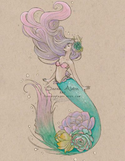 Succulent-Mermaid-Art-Mermay-Sarah-Alden