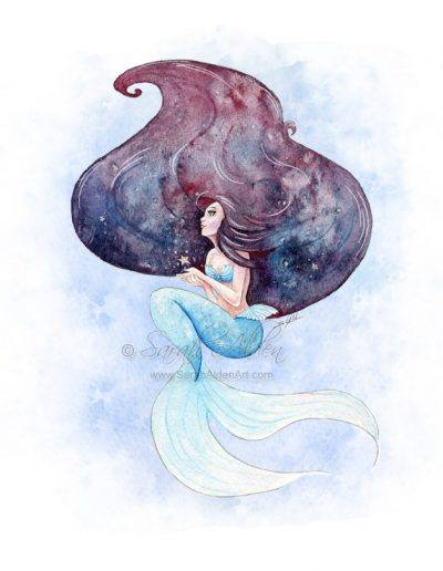 Galaxy Mermaid Art Sarah Alden