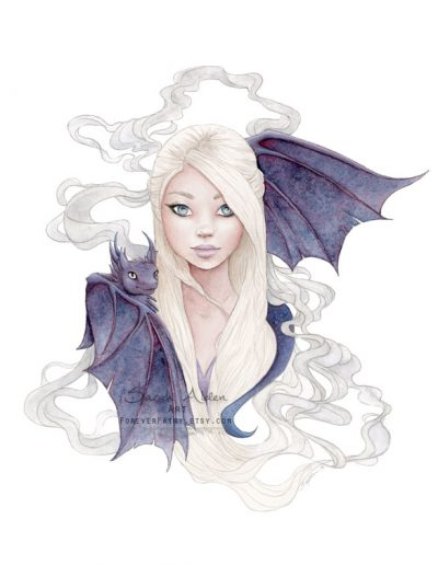 Dragon-Queen-Art-Print-GoT-Sarah-Alden